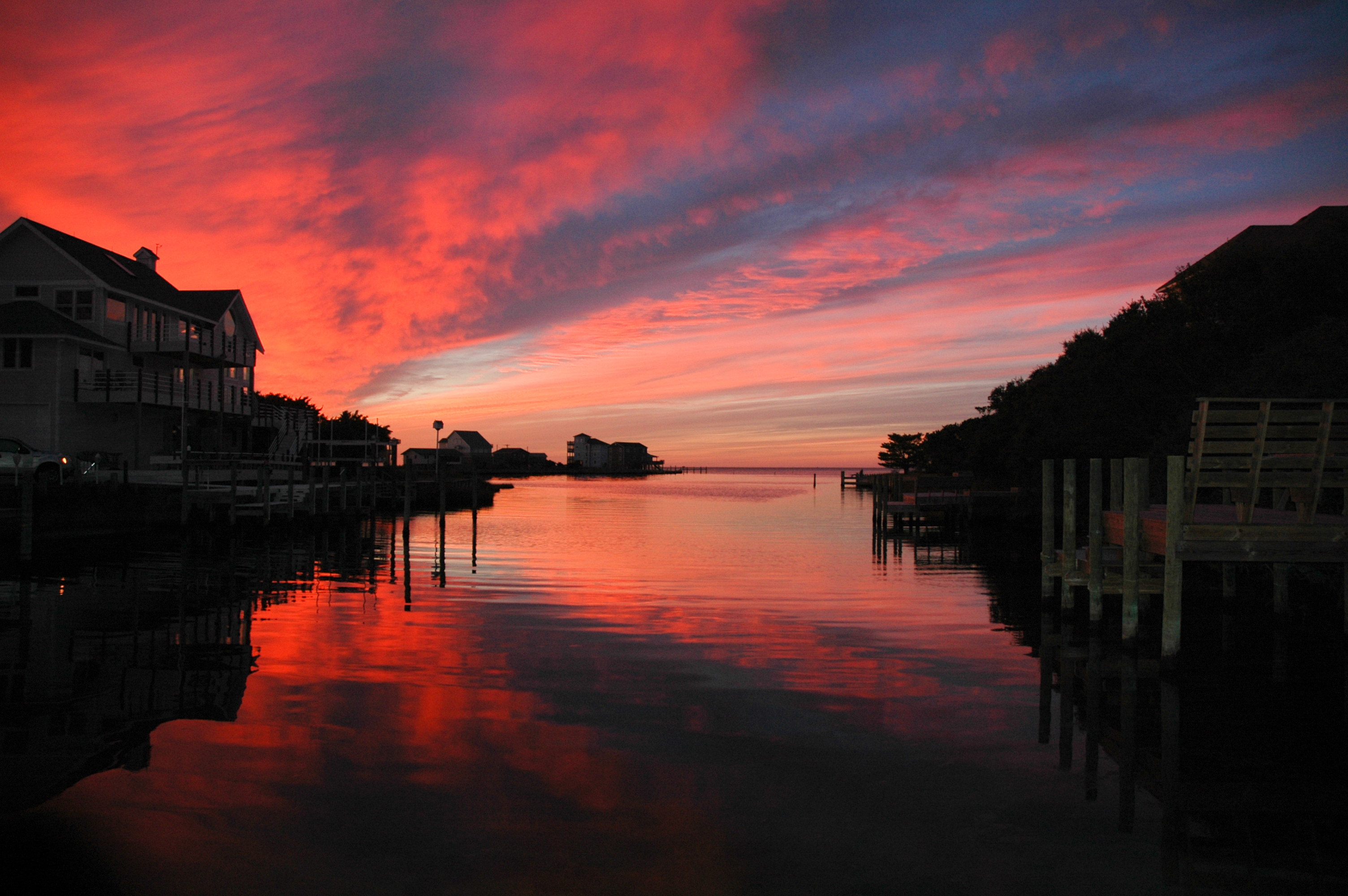 January Sunset in Brigand's Bay, Frisco, NC