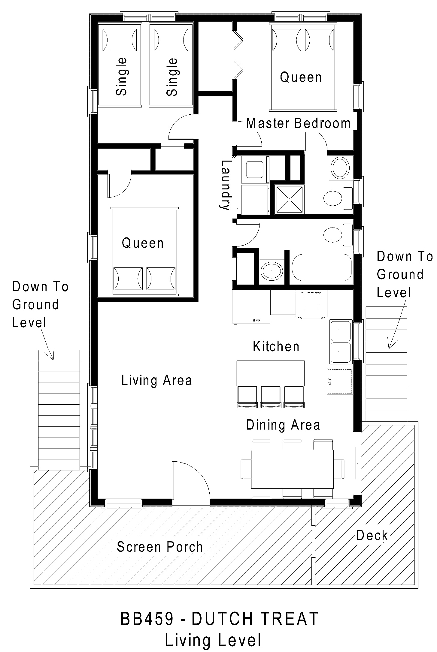 Canalfront vacation rental dutch treat for Dutch house plans