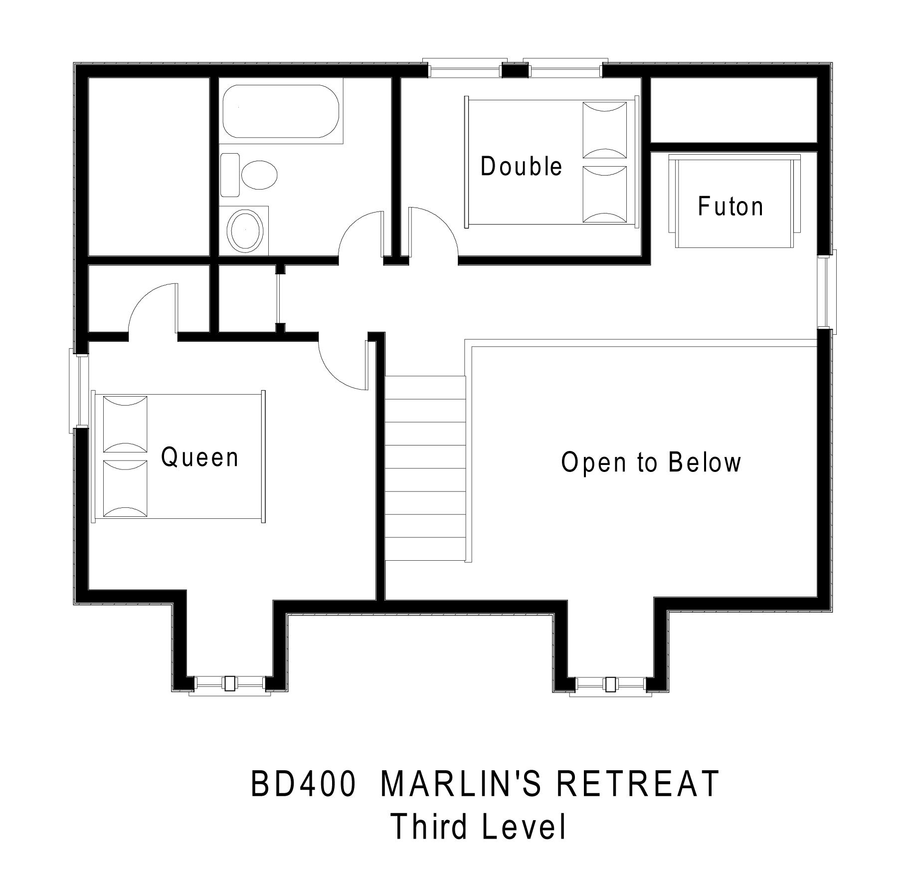 Marlin 39 s retreat hatteras rental midget realty for The retreat floor plans