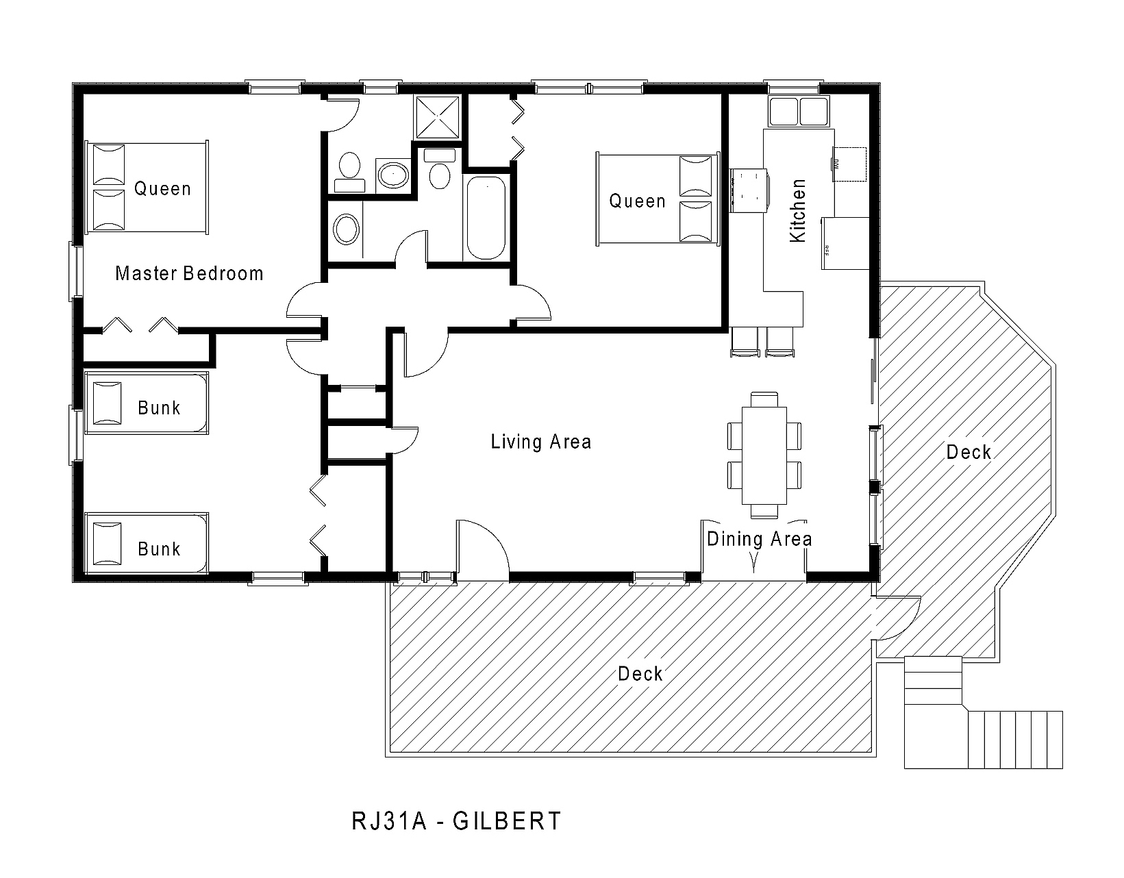 Rj31a gilbert floorplan level midgett realty for Single level floor plans