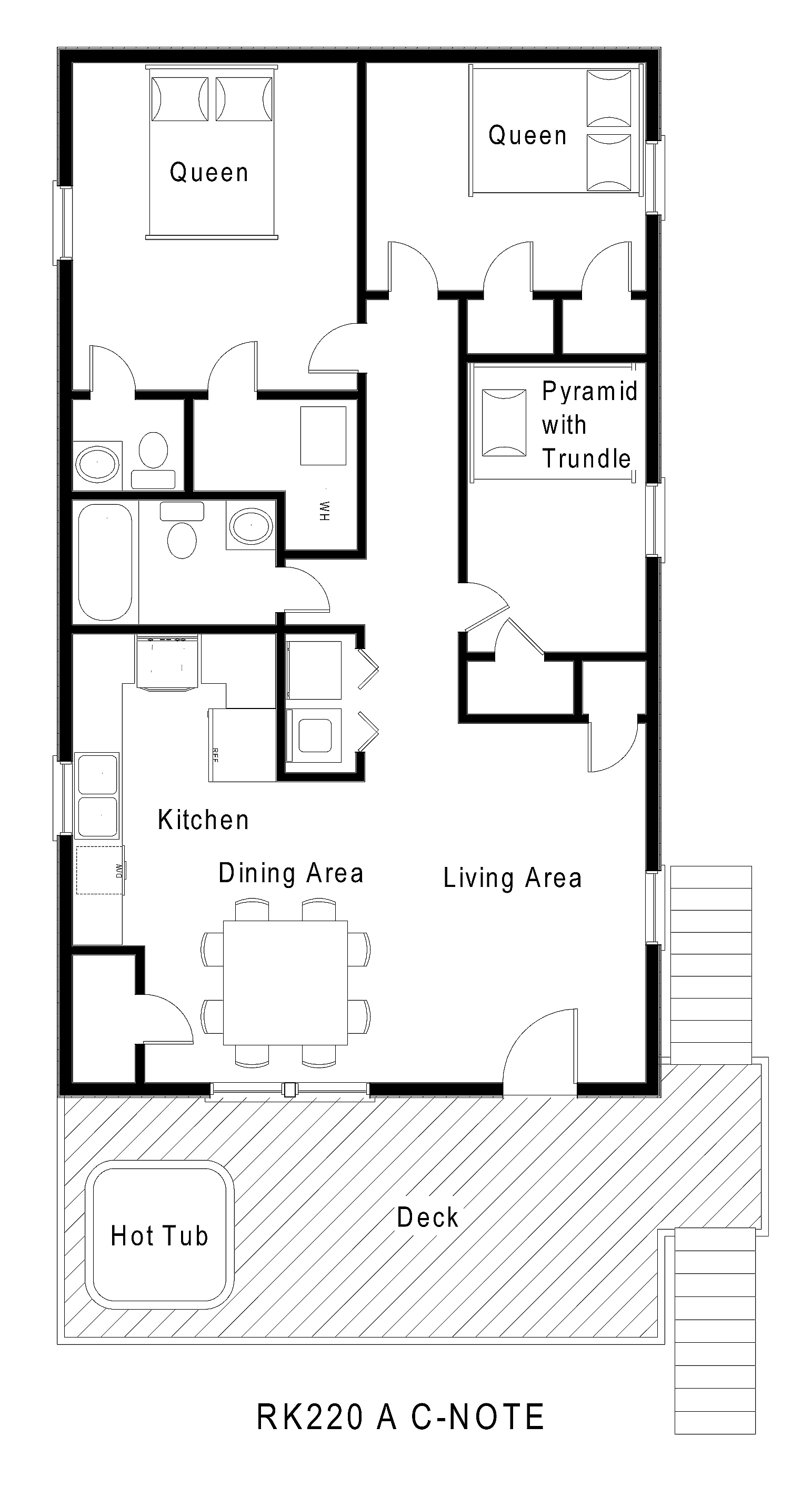 RK220 A C-Note Floorplan Level 1