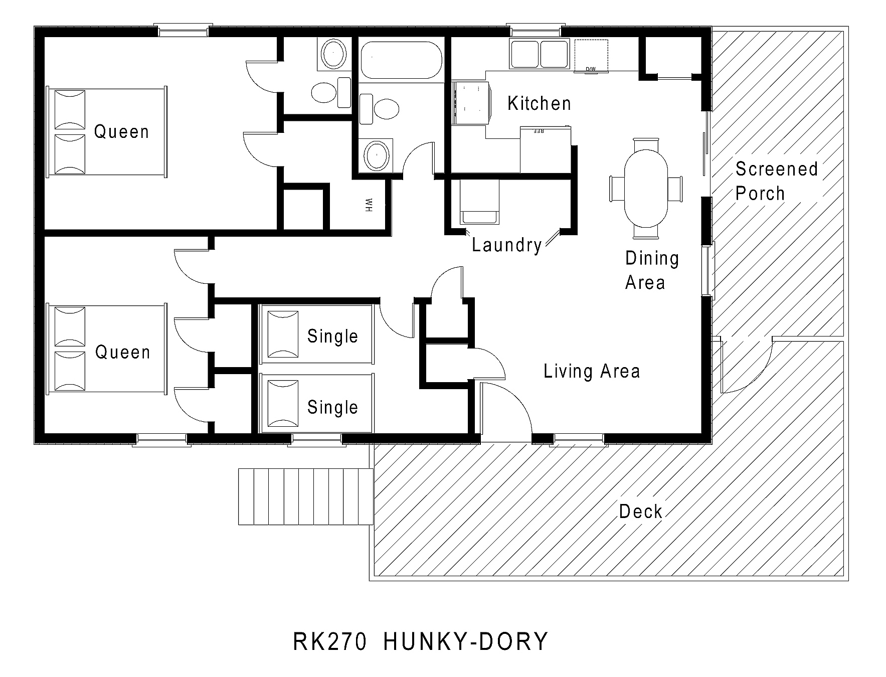 Hunky dory hatteras rental midget realty for One floor house plans
