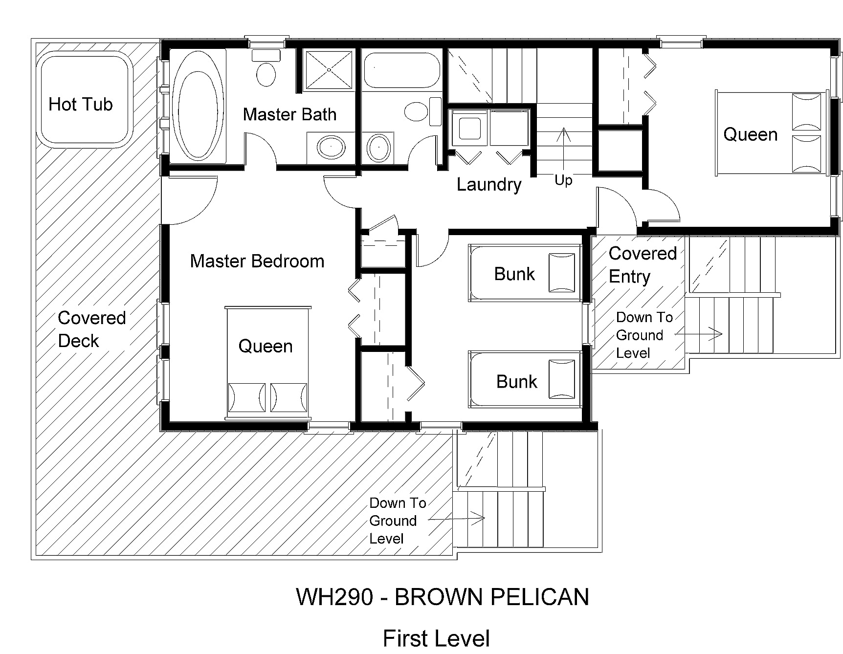 WH029 Brown Pelican - Floorplan Level 2
