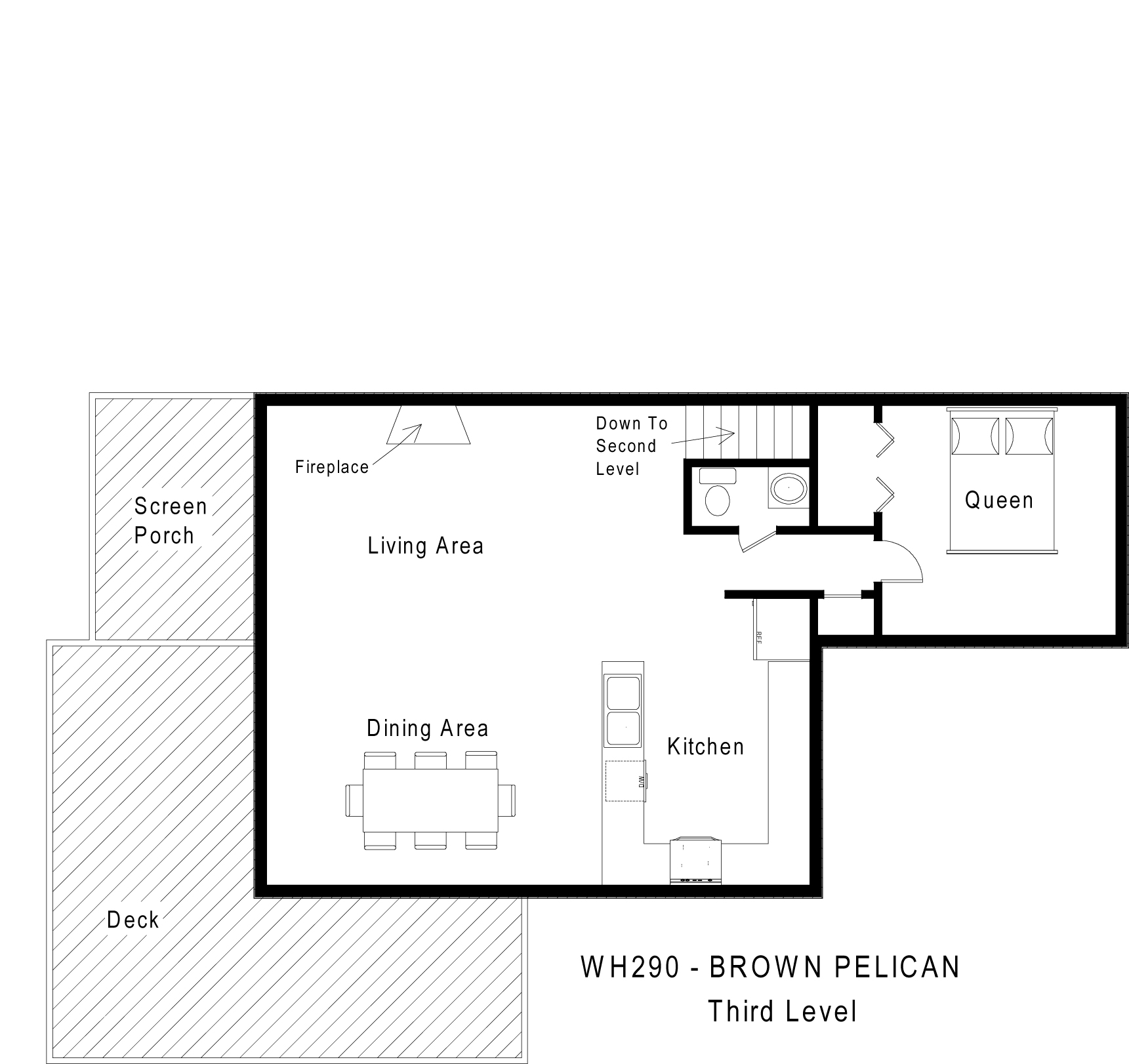 WH029 Brown Pelican - Floorplan Level 3