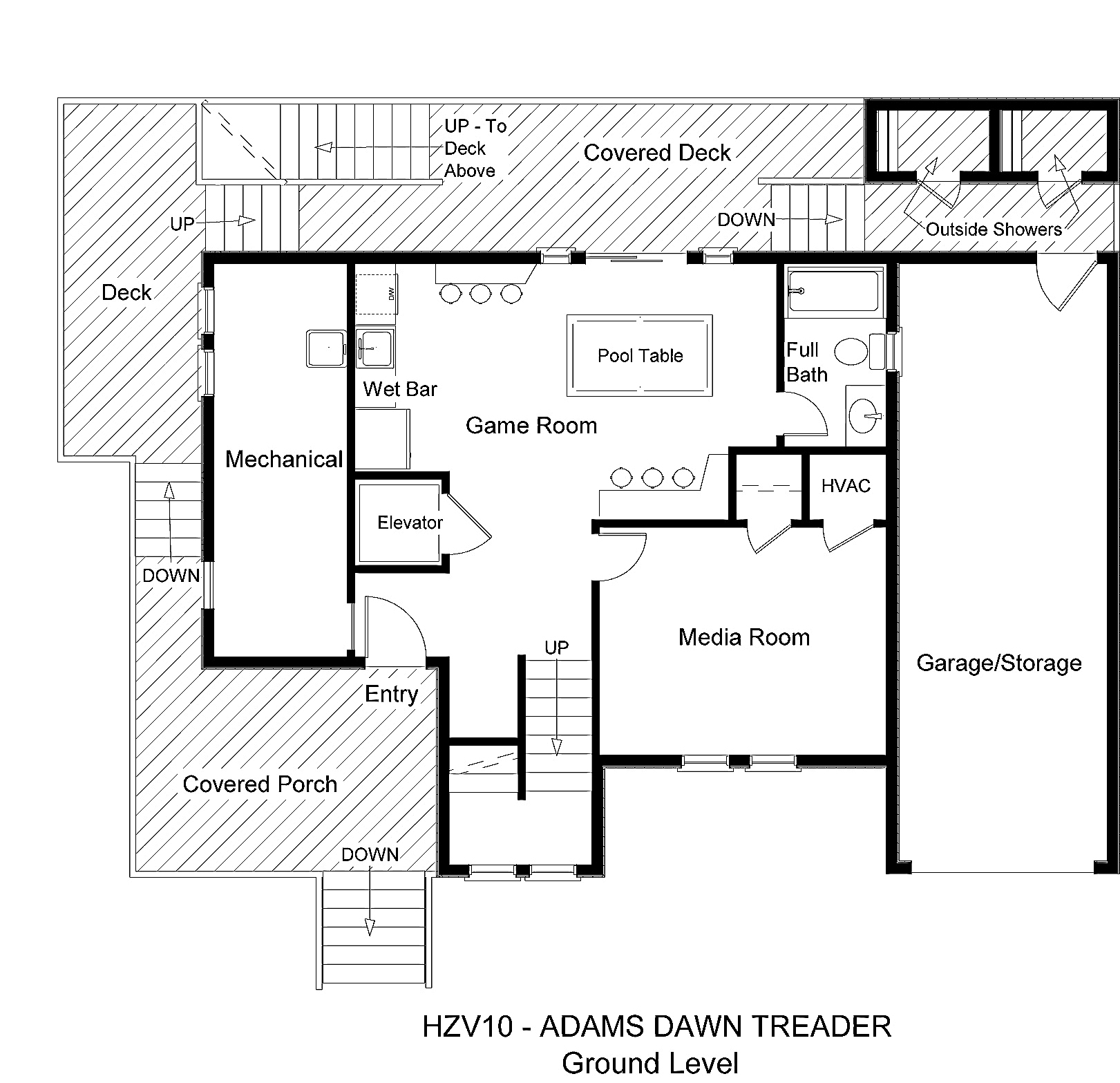 HZV10 Adams Dawn Treader - Floorplan Level 1