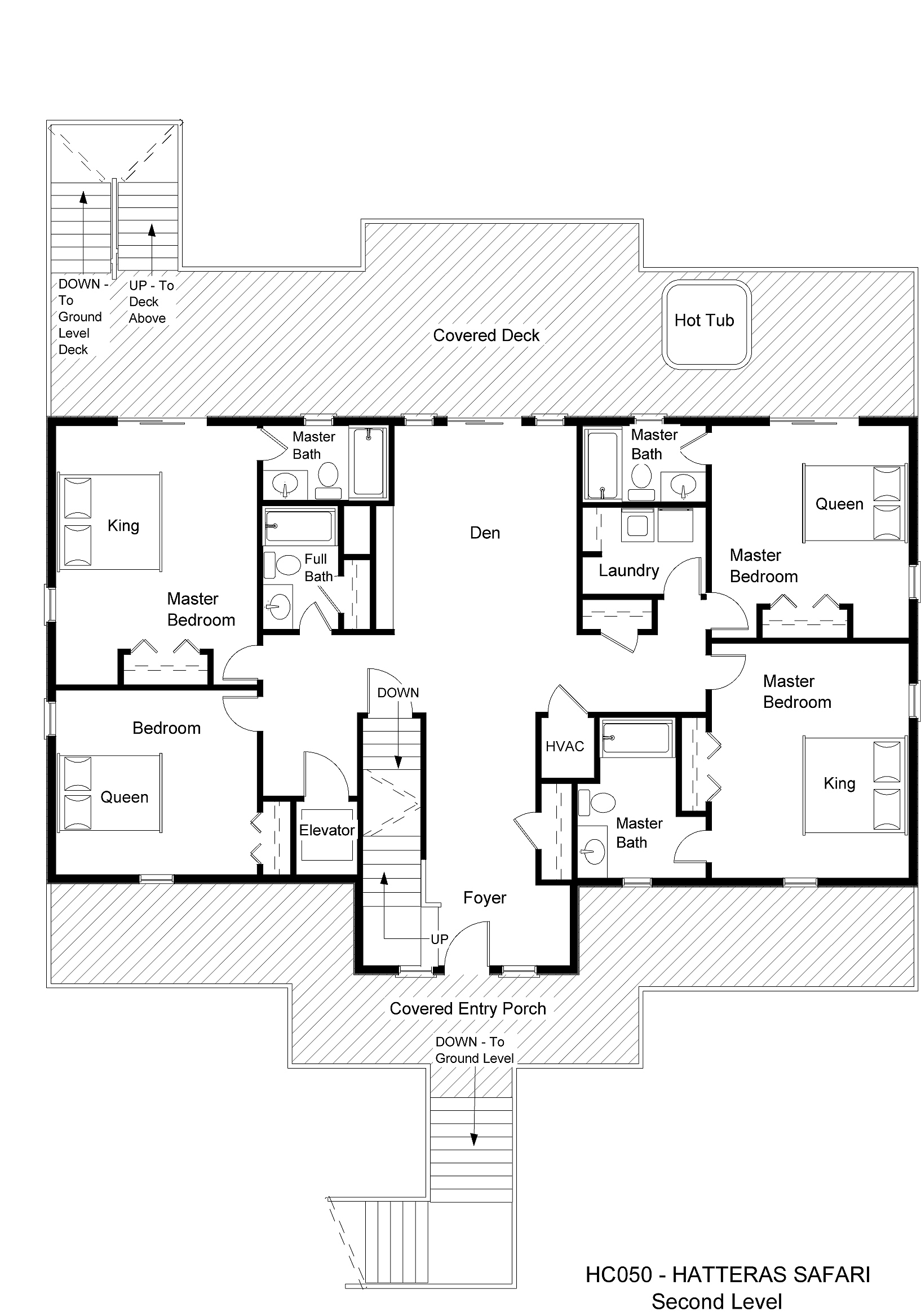 HC050 Hatteras Safari - Floorplan Level 2