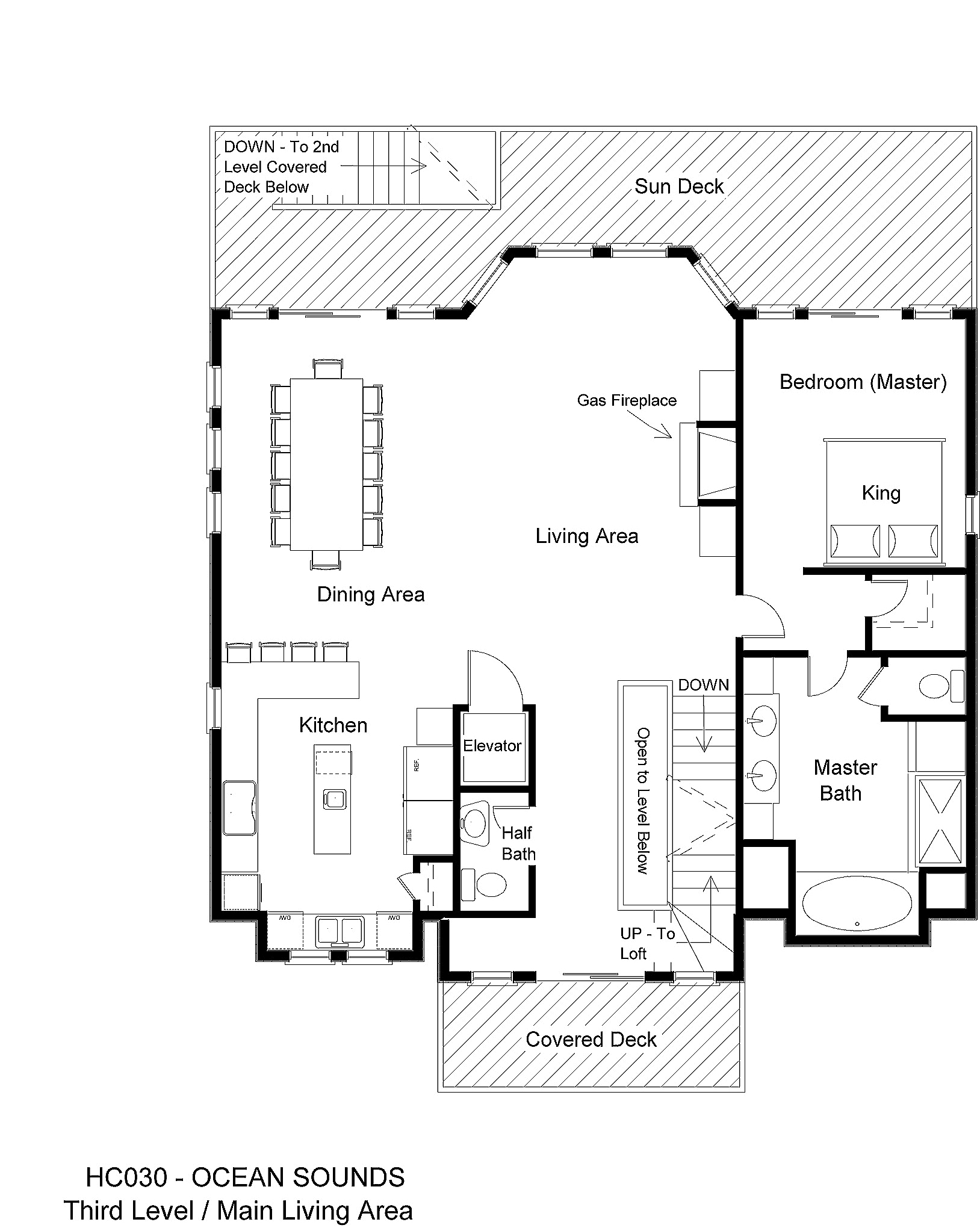 HC030 Ocean Sounds - Floorplan Level 3