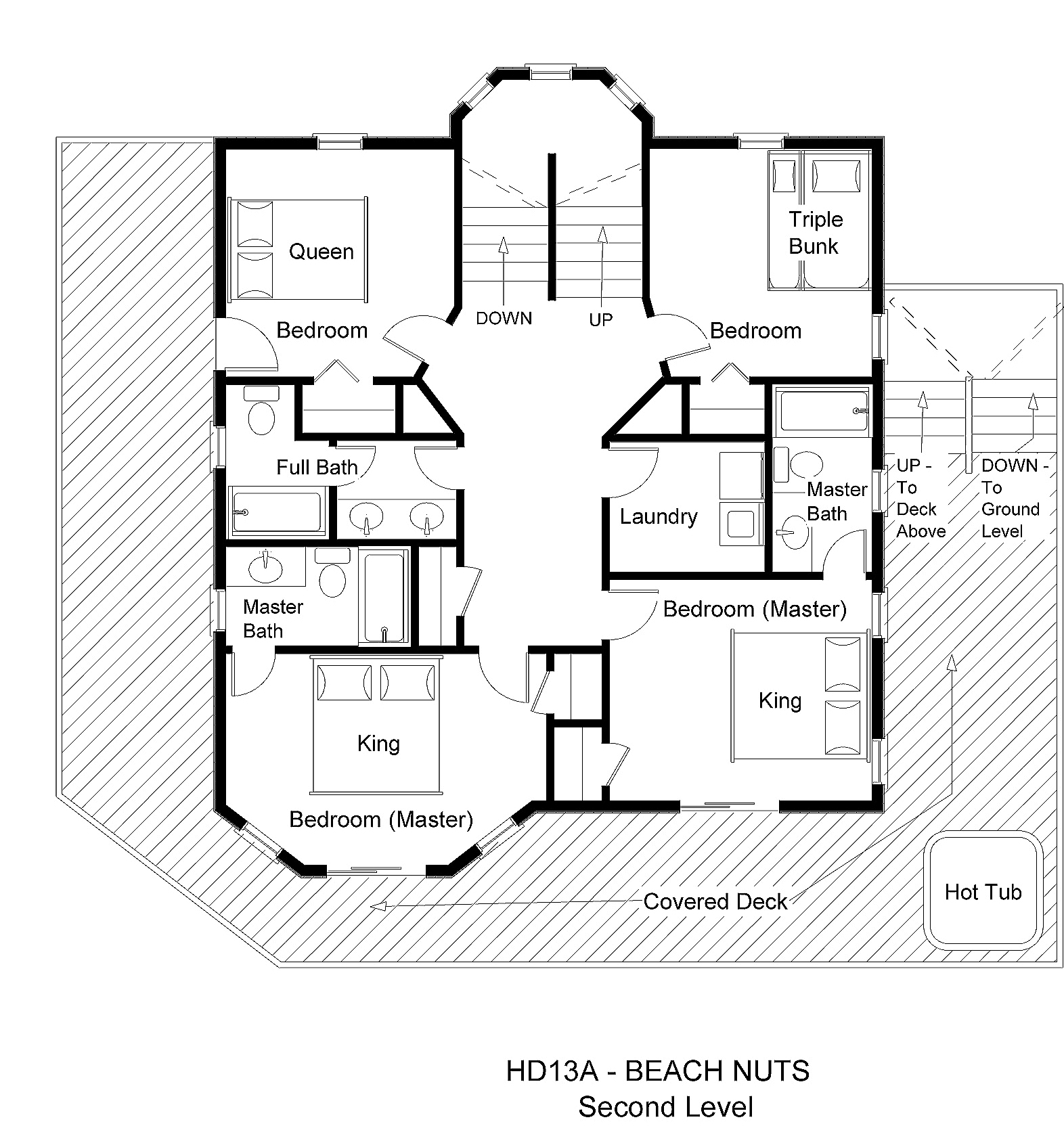 Vacation beach home floor plans house plan 2017 for Vacation floor plans