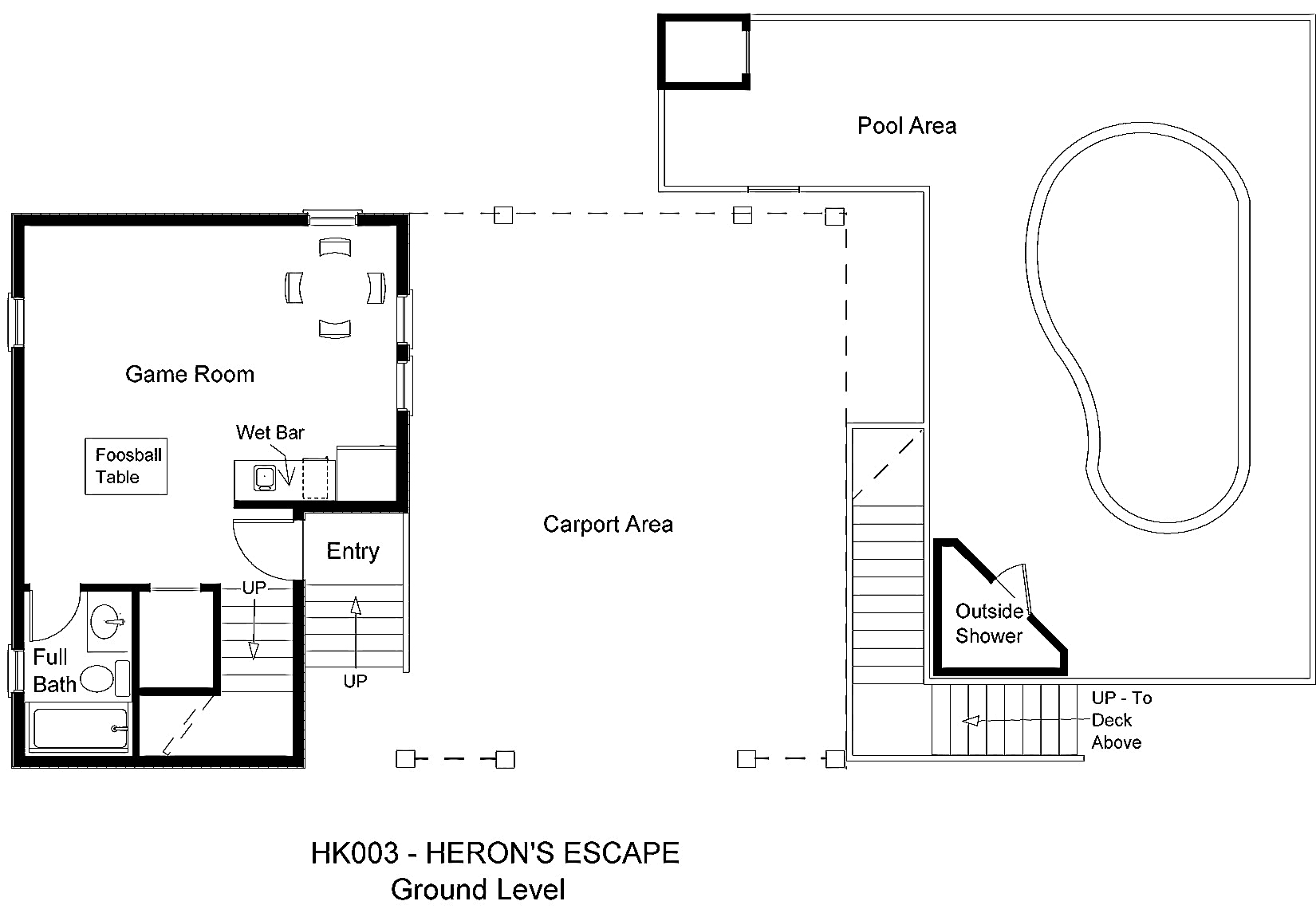 HK003 Heron's Escape - Floorplan Ground Level