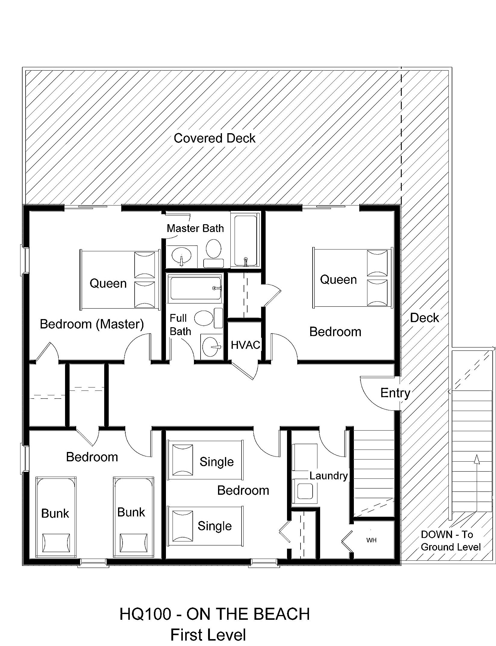 HQ100 On The Beach - Floorplan Level 1