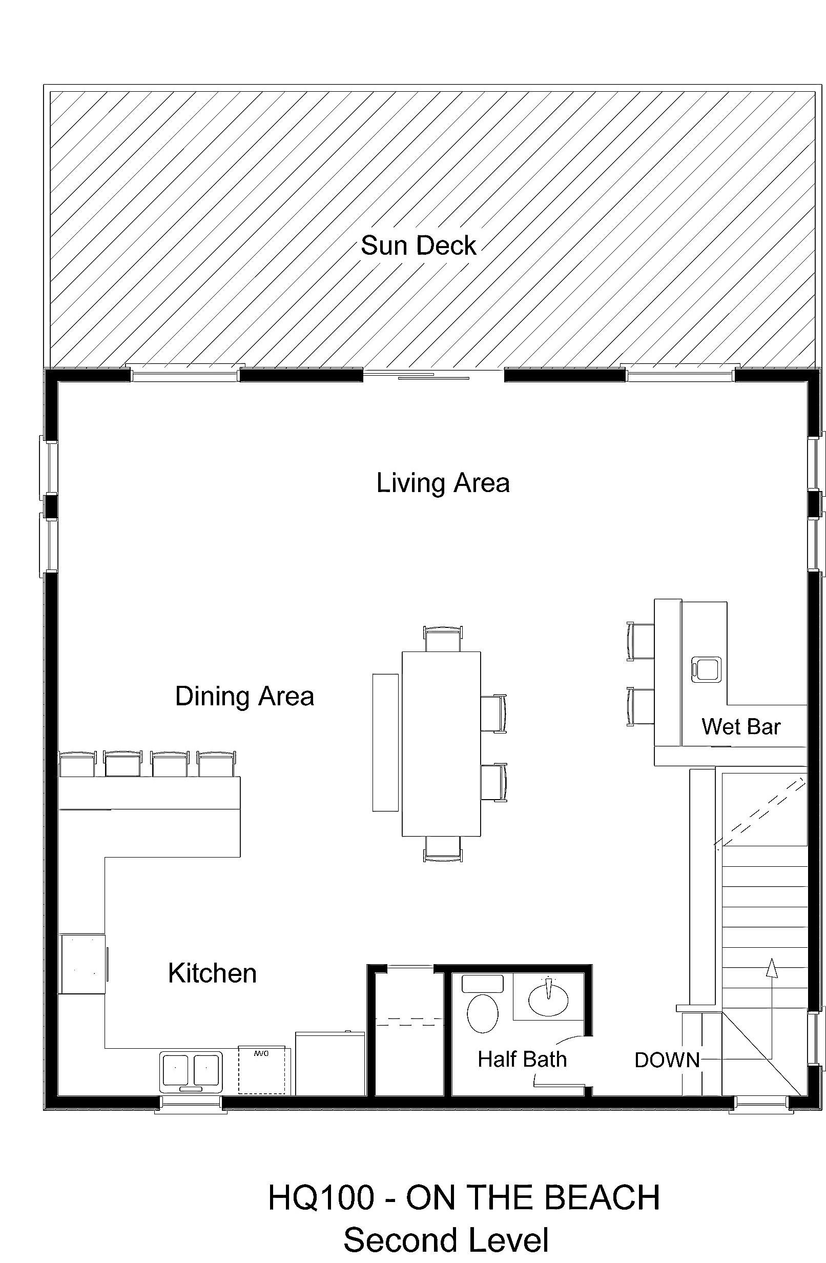 HQ100 On The Beach - Floorplan Level 2