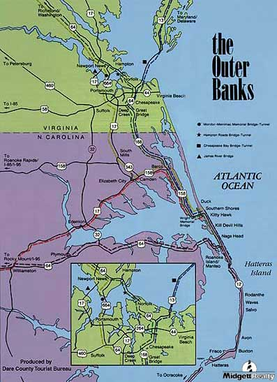31 Excellent Map North Carolina Outer Banks Bnhspine Com