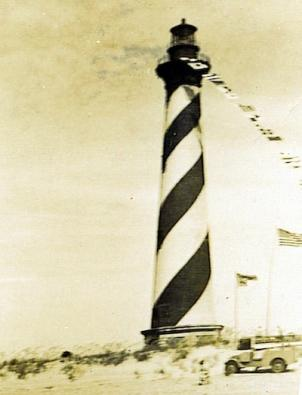 Historic image of Hatteras Island Lighthouse