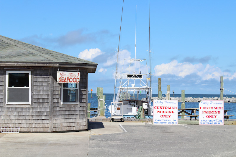 Risky Business Seafood in Hatteras Village