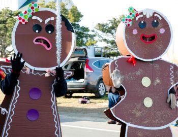 Hatteras Village Christmas Parade, Midgett Realty Float