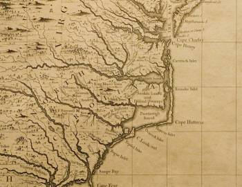 Historic Map of North Carolina