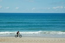 Beach bike ride in Frisco, NC on Hatteras Island