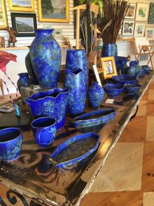 Beautiful handcrafted artwork on display at Sandy Bay Gallery on Hatteras Island