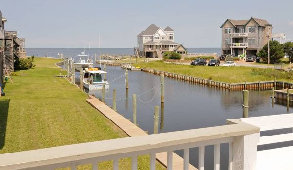 Boat Dock at Hatteras Vacation Rental