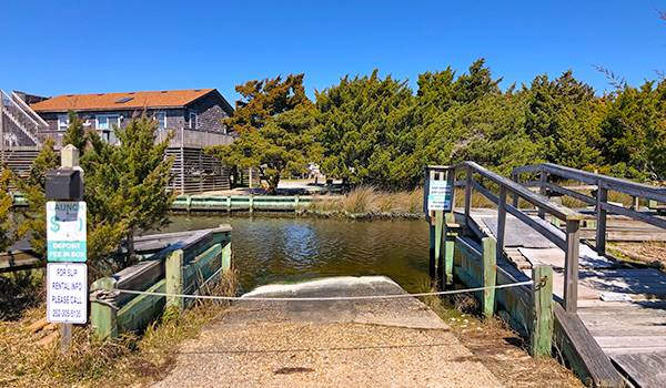 Paid Boat Launch in Hatteras Colony - Avon
