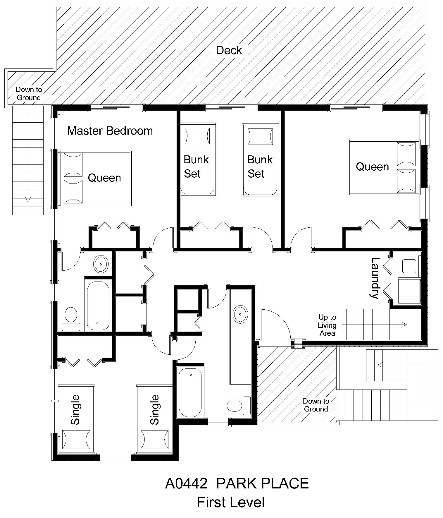 A0442 park place floor plan level midgett realty for Park place floor plans