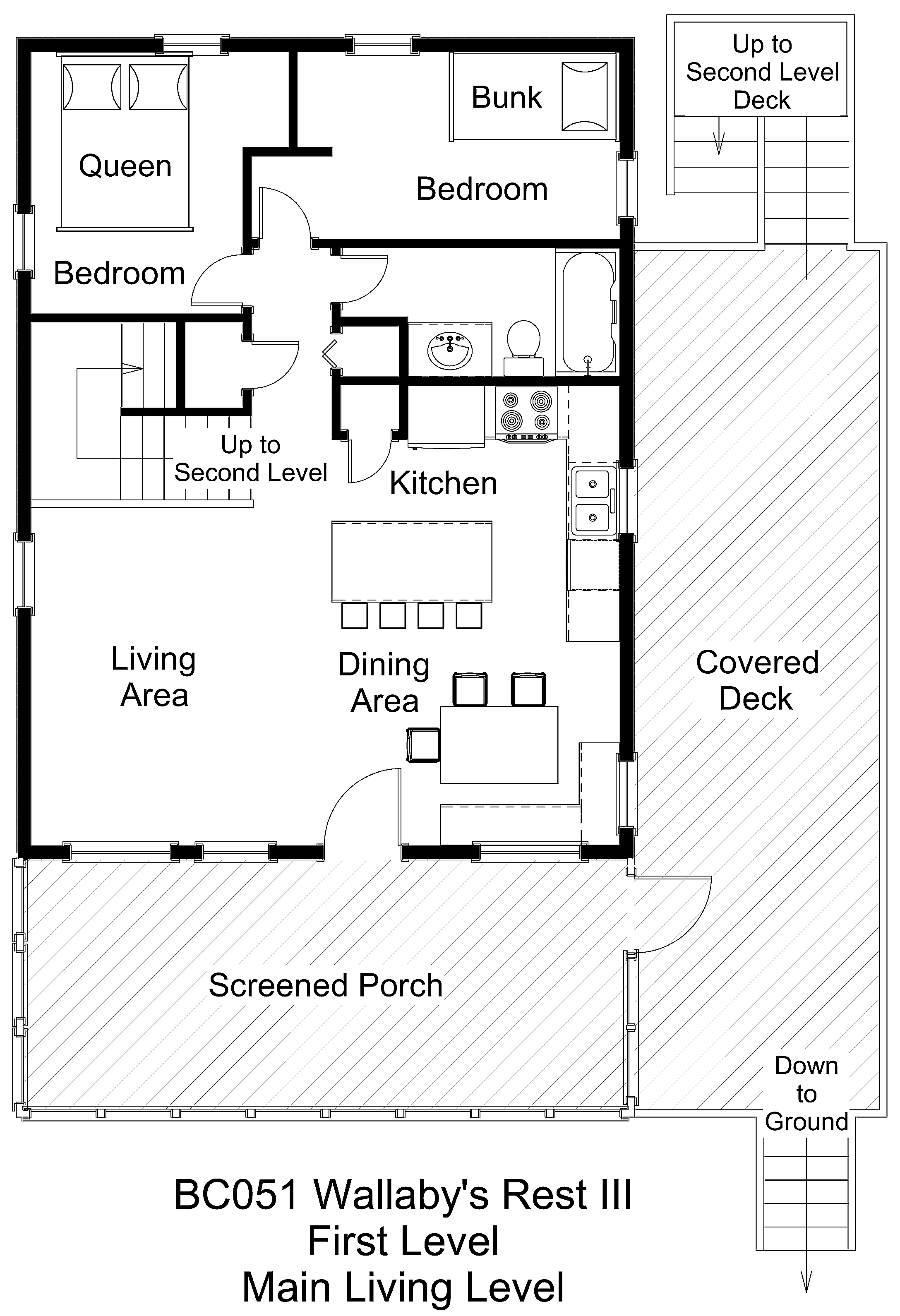 Oceanside vacation rental wallabys rest iii bc051wallabysrestiiifloorplan level1g ccuart Choice Image